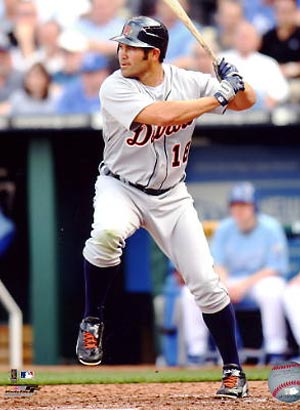 johnny damon detroit tigers swinging bat